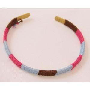 Bracelets coloré en laiton et coton