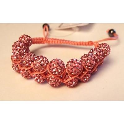 Bracelet shamballa rose vif