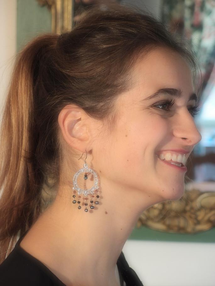 image boucles d'oreille chandeliers personnalisables