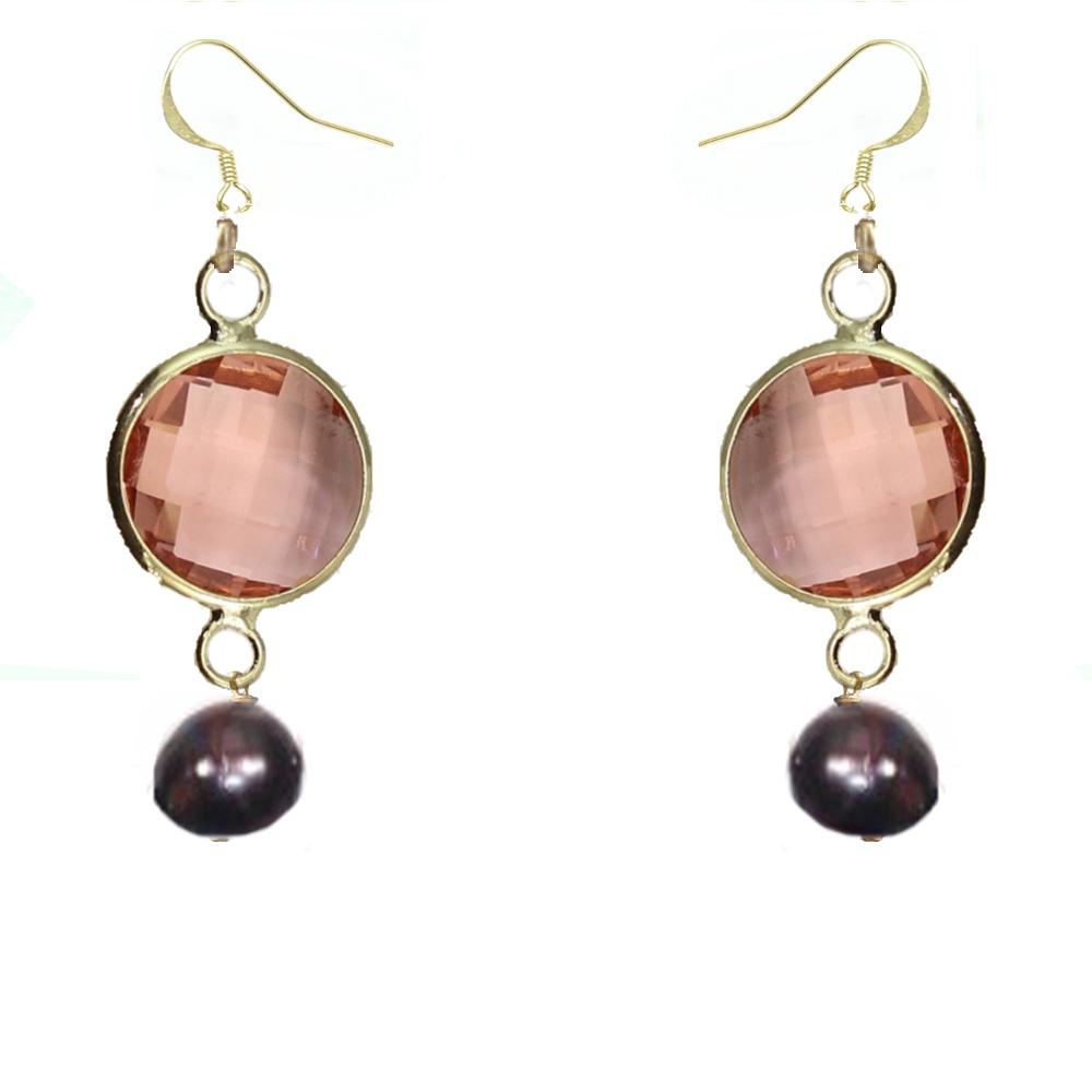 Boucles d'oreille réalisées à la main avec perles de culture