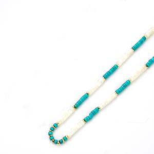 Collier Bicolore bleu et blanc