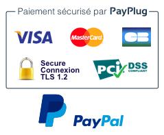 Paiement sécurisé Payplug, Paypal